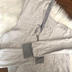 P'tula grey cropped hoodie